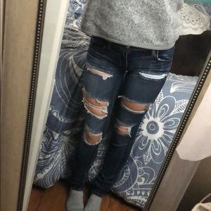 AE super low rise jeggings